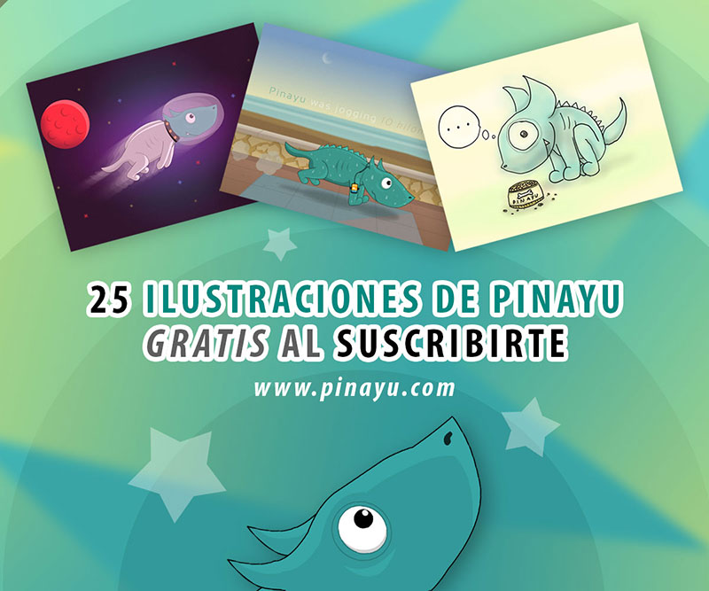 Vídeo de las 25 ilustraciones de Pinayu el perro dinosaurio