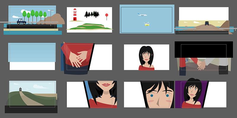Recursos gráficos del corto de animación usando Adobe Illustrator