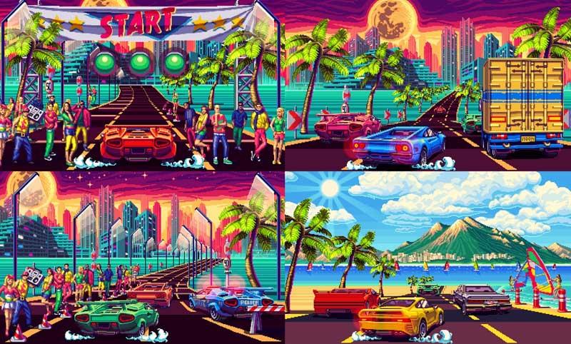 Impresionantes gráficos estilo retro