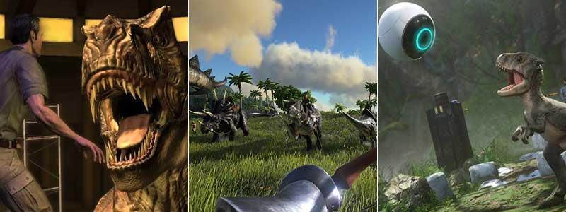 Jurassic Park: The Game, Ark: Survival Evolved y Robinson: The Journey