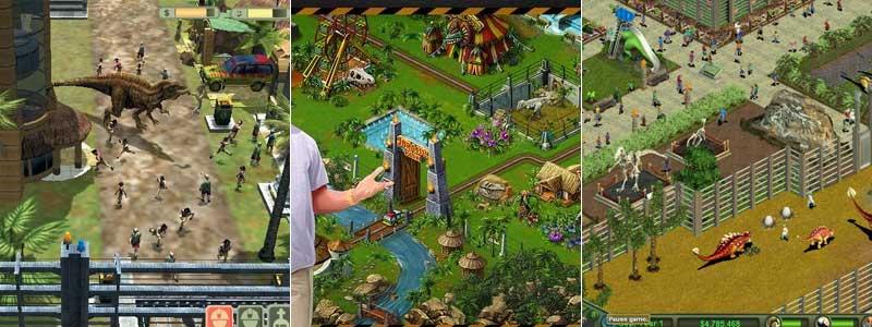 Imágenes de los mejores juegos de gestión de parques de dinosaurios