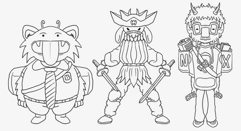 Diseño de personajes, paso 1 - Dibujo