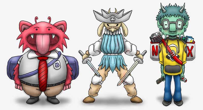 Diseño de personajes, paso 3 - Sombras e iluminación