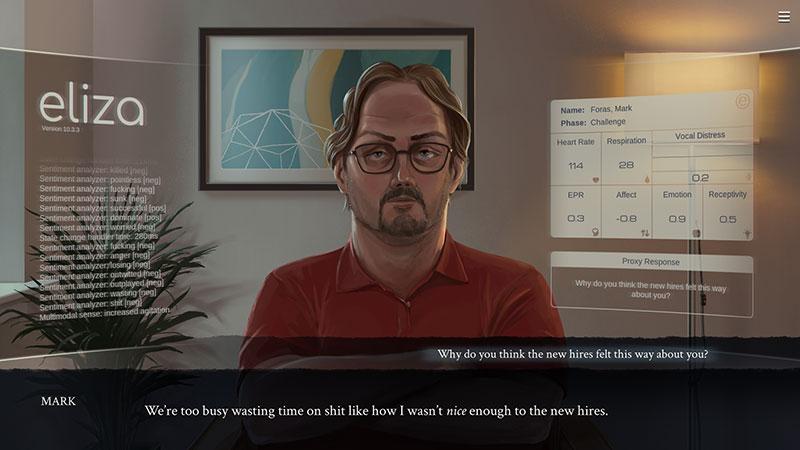 Análisis de Eliza, posiblemente el mejor juego sobre psicología en PC