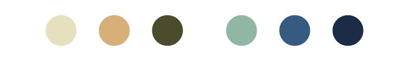 Gama cromática, tonalidades y colores de La Gran Ola