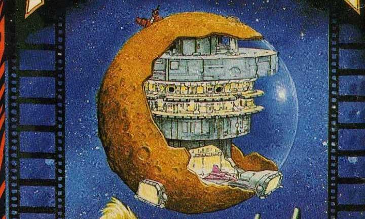 La ilustración del planeta que recorremos en Freddy Hardest