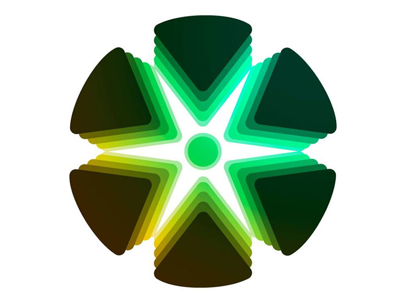 Ejemplo de logo con degradado diseñado en Adobe Illustrator