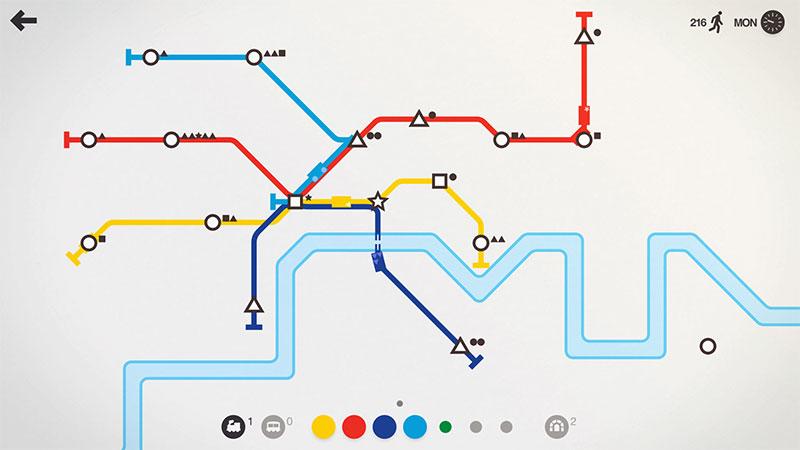 Mini Metro nos da las herramientas para crear arte sonoro y visual