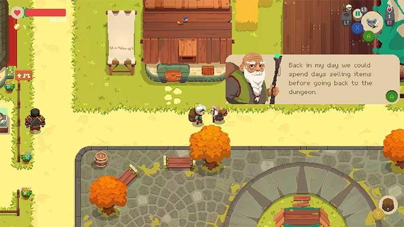 Magnífico pixel art del juego español Moonlighter