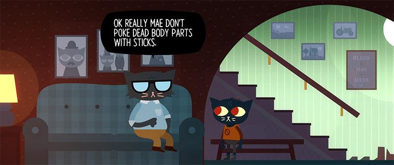 Screenshot en la casa charlando con su padre