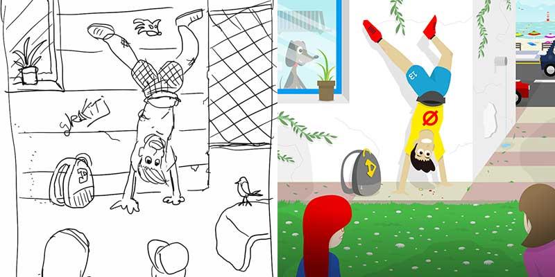 El boceto como primer paso del proceso de diseño e ilustración