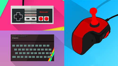 Flat illustration - Retro games