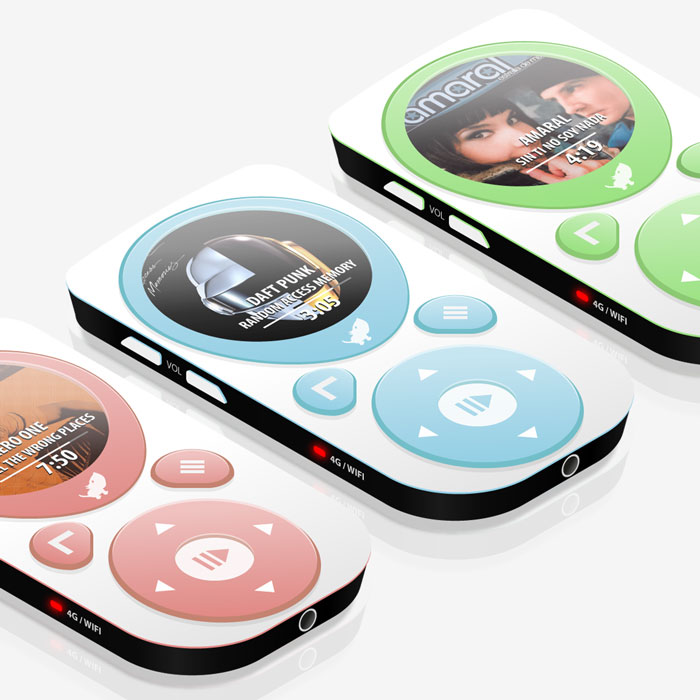 MP4 player invented in isometric view